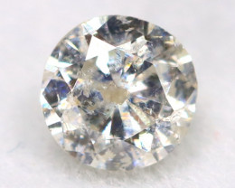 0.19Ct Natural Fancy Yellowish White Brilliant Round Cut Diamond BM0093
