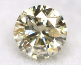 0.15Ct Natural Fancy Yellowish White Brilliant Round Cut Diamond BM0095