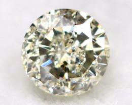 0.15Ct Natural Fancy Yellowish White Brilliant Round Cut Diamond BM0096