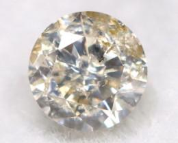 0.16Ct Natural Fancy Yellowish White Brilliant Round Cut Diamond BM0097