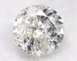 0.13Ct Natural Fancy Yellowish White Brilliant Round Cut Diamond BM00100