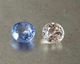 1.33ct white and blue sapphire