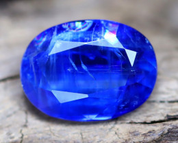 Kyanite 4.91Ct Oval Cut Natural Himalayan Royal Blue Color Kyanite C0907