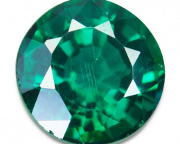~GLITTERING~ 1.62 Cts Vivid Green Natural Topaz Round Cut Brazil