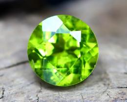 Peridot 2.80Ct VVS Round Cut Natural Neon Green Peridot A1006