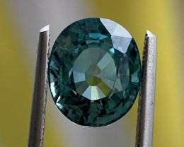 GIL Certified 3.38 Carats indicolite  Tourmaline Gemstone