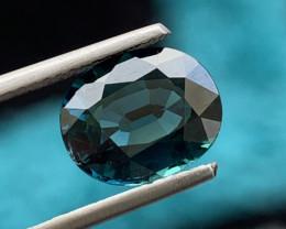 GIL Certified  2.83 Carats Indicolite Tourmaline Gemstone