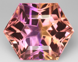 16.19 CT BOLIVIAN AMETRINE TOP CLASS LUSTER GEMSTONE AT6