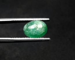 Emerald, 3.85 Carats Oval Natural Zambian Emerald Cabochon