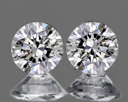 2.20 mm Round 2 pcs 0.09ct Natural White Diamond GHI VVS-VS