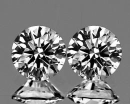 2.10 mm Round 2 pcs 0.07ct Natural White Diamond GHI VVS-VS