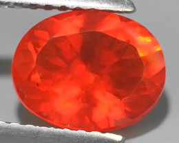 1.40 CTS EXCELLENT UNHEATED BEST QUALITY~ORANGE FIRE OPAL TOP COLOR!!