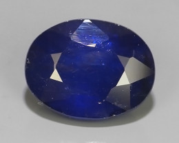 2.70 Cts Natural Intense Beautiful Blue Sapphire Oval Shape From MADAGASCAR