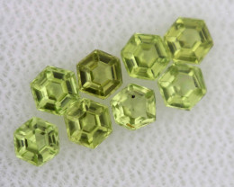 1.23 CTS  PERIDOT FACETED STONE PARCEL RNG-580