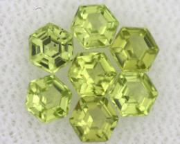 1.12 CTS  PERIDOT FACETED STONE PARCEL RNG-585