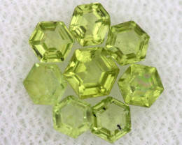 1.17 CTS  PERIDOT FACETED STONE PARCEL RNG-591