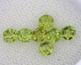 1.17 CTS  PERIDOT FACETED STONE PARCEL RNG-592