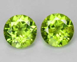 1.75 Cts 2pcs Pair Green Color Natural Peridot Gemstone