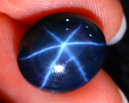 Star Sapphire 10.32Ct Natural 6 Rays Blue Star Sapphire ER70/A52