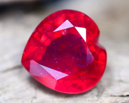 Red Ruby 5.71Ct Heart Cut Pigeon Blood Red Ruby B1110
