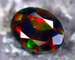 1.42cts Natural Ethiopian Faceted Smoked Black Opal / MA209