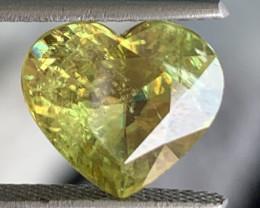 GIL Certified 4.09 Carats Fire Sphene Titanite Gemstone