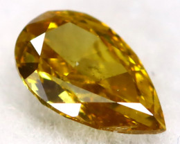 Yellowish Green Diamond 0.10Ct Untreated Genuine Fancy Diamond C1107
