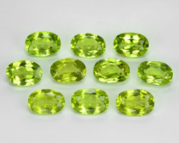 8.61 Cts 10pcs Green Color Natural Peridot Gemstones