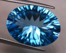 15.39ct Natural Swiss Blue Topaz Laser Oval Cut Lot V7482