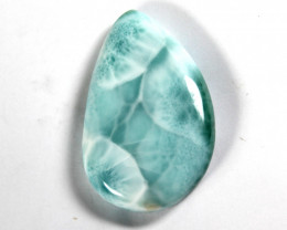 Exquisite Natural Ocean Blue Larimar Cabochon 54x34x9mm 175cts