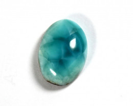 Exquisite Natural Volcanic Blue Oval Larimar Cabochon 24x17x8mm 28cts