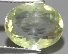 4.40 CTS NATURAL UNHEAT GENUINE LUSTROUS OVAL~RARE COLOR AQUAMARINE GEM!