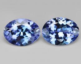 2.18 Cts 2pcs Amazing Rare Violet Blue Color Natural Tanzanite Gemstone