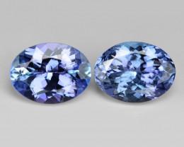 2.53 Cts 2pcs Amazing Rare Violet Blue Color Natural Tanzanite Gemstone