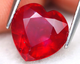 Red Ruby 5.03Ct Heart Cut Pigeon Blood Red Ruby A1213