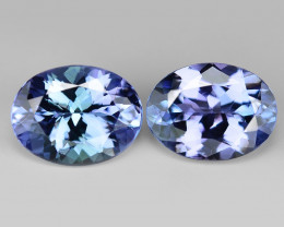 2.36 Cts 2pcs Amazing Rare Violet Blue Color Natural Tanzanite Gemstone