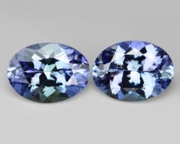 2.47 Cts 2pcs Amazing Rare Violet Blue Color Natural Tanzanite Gemstone