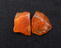 35.5cts 2pcs Agate Nugget Cabochons ,Agate Cabochon Pair G876