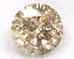 0.17Ct Natural Fancy Champagne Brilliant Round Cut Diamond BM0126