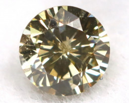 0.13Ct Natural Fancy Champagne Brilliant Round Cut Diamond BM0128