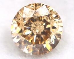0.17Ct Natural Fancy Champagne Brilliant Round Cut Diamond BM0134