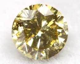 0.16Ct Natural Fancy Champagne Brilliant Round Cut Diamond BM0139