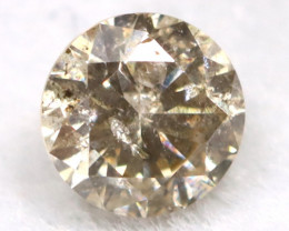 0.19Ct Natural Fancy Champagne Brilliant Round Cut Diamond BM0141
