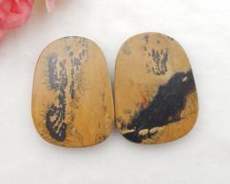 93cts Chohua jasper cabochon pair,healing stone G875