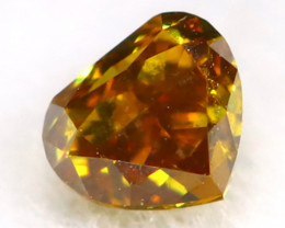 Orange Diamond 0.11Ct Untreated Genuine Fancy Diamond AT0332