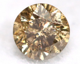 0.16Ct Natural Fancy Champagne Brilliant Round Cut Diamond BM0154