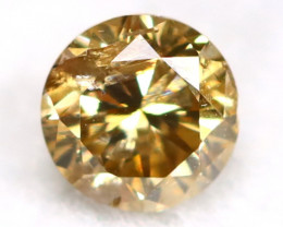 0.17Ct Natural Fancy Champagne Brilliant Round Cut Diamond BM0156
