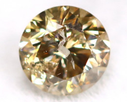 0.20Ct Natural Fancy Champagne Brilliant Round Cut Diamond BM0159