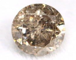 0.20Ct Natural Fancy Champagne Brilliant Round Cut Diamond BM0162