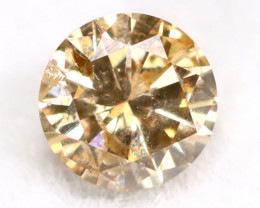 0.16Ct Natural Fancy Champagne Brilliant Round Cut Diamond BM0163